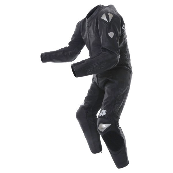 BKS BKS053 Mens Black Leather Motorcycle Benicia Suit Racing crouch