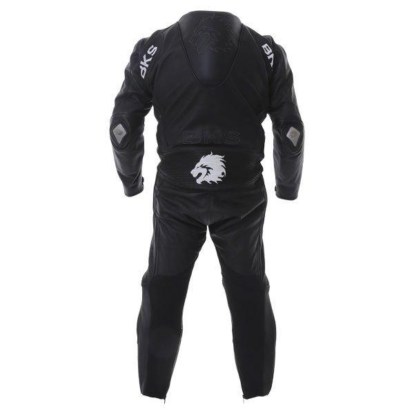 BKS BKS053 Benicia Mens Black Leather Motorcycle Suit Back