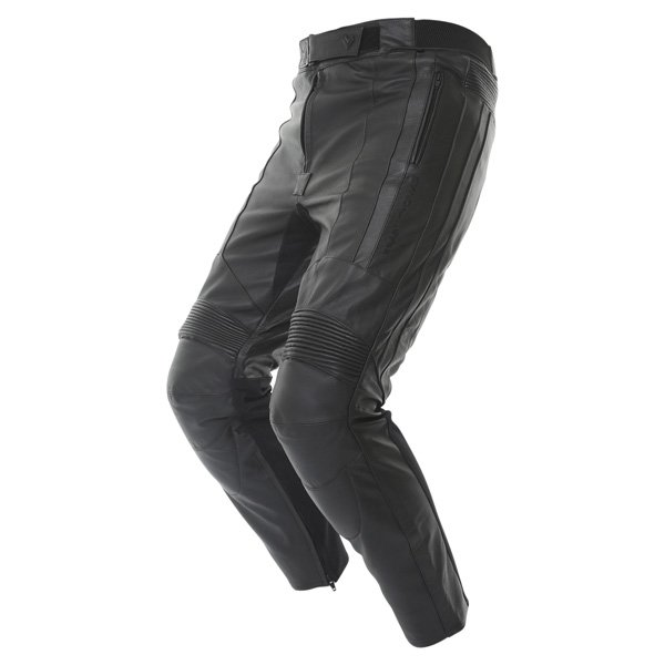Frank Thomas FTL306 Panther Black Leather Motorcycle Jeans Riding crouch