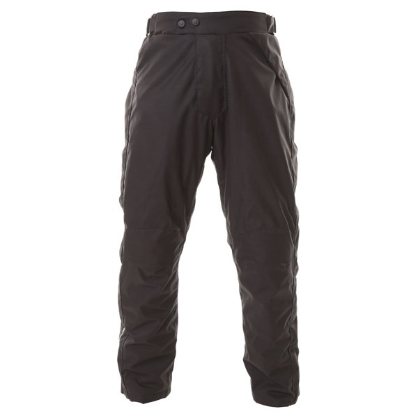 Frank Thomas FTW322 Eclipse Mens Black Textile Motorcycle Over Trousers Front