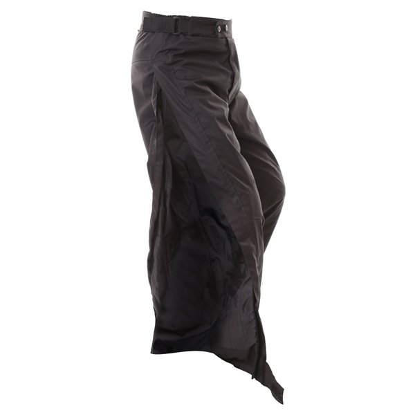 Frank Thomas FTW322 Eclipse Mens Black Textile Motorcycle Over Trousers High Zip Leg