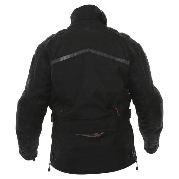 Frank Thomas FTW345 Tourino Aquatec Mens Black Waterproof Textile Motorcycle Jacket Back