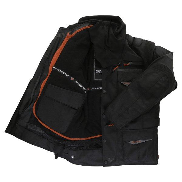 Frank Thomas FTW345 Tourino Aquatec Mens Black Waterproof Textile Motorcycle Jacket Inside