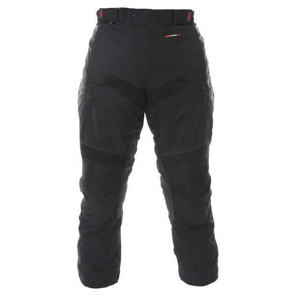 Frank Thomas FTW347 Tourino Aquatec Mens Black Waterproof Textile Motorcycle Pants Front