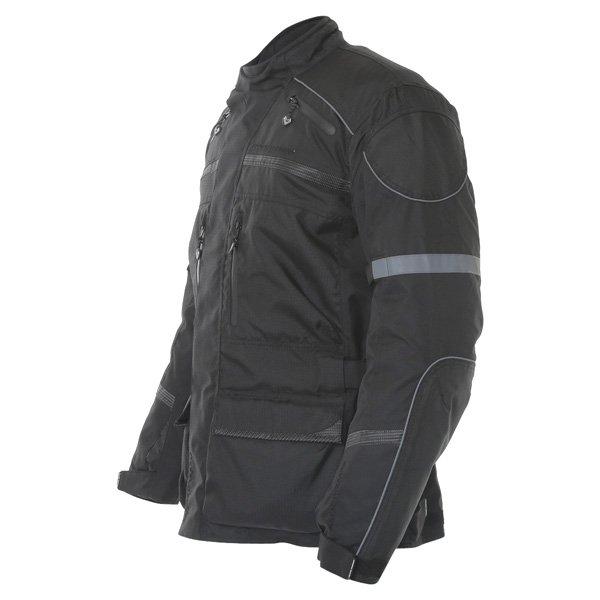 Frank Thomas FTW350 Full Force Aqua 2 Mens Black Waterproof Textile Motorcycle Jacket Side