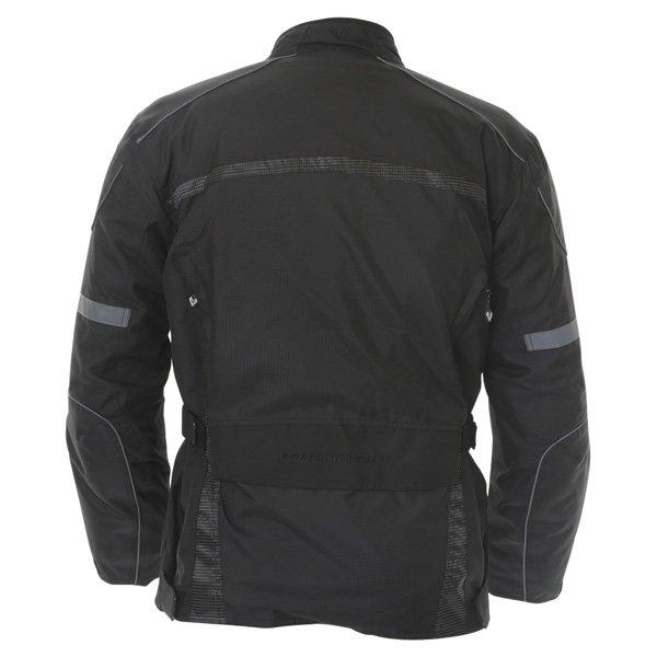 Frank Thomas FTW350 Full Force Aqua 2 Mens Black Waterproof Textile Motorcycle Jacket Back