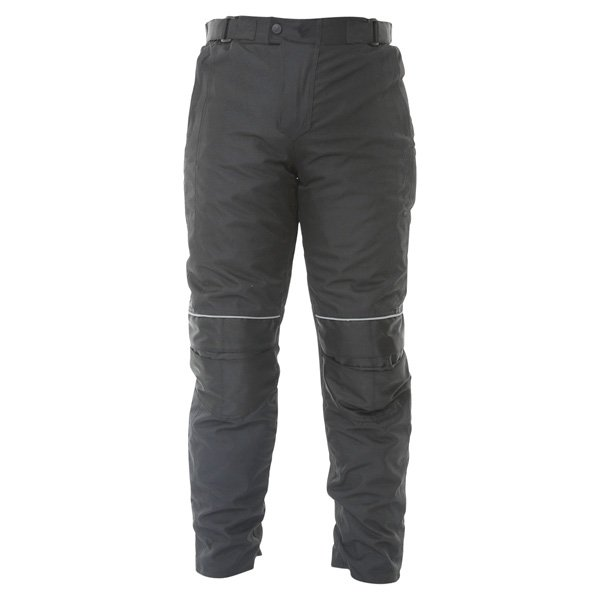 Frank Thomas FTW351 Full Force Mens Black Waterproof Textile Motorcycle Trousers Front