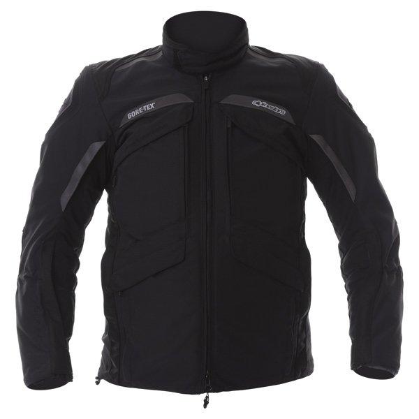 Alpinestars Frontier Mens Black Goretex Waterproof Textile Motorcycle Jacket Front