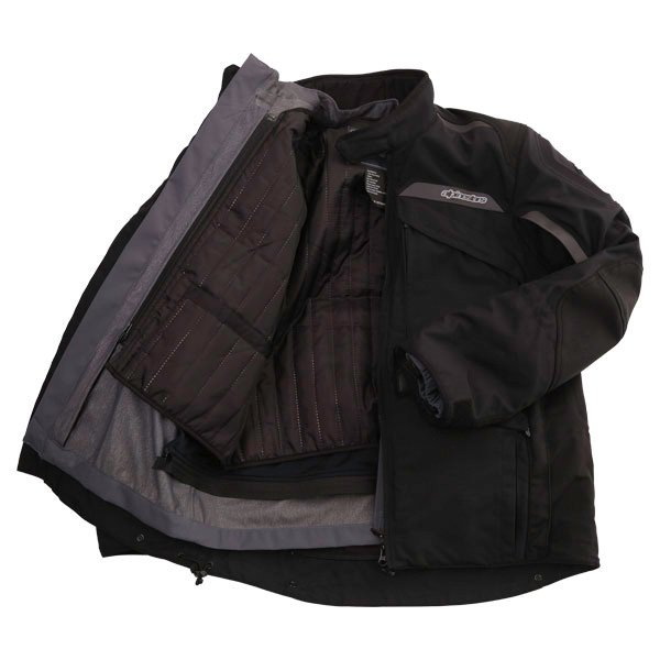 Alpinestars Frontier Mens Black Goretex Waterproof Textile Motorcycle Jacket Inside