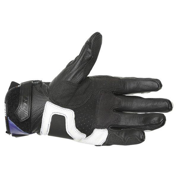 Dainese 4-Stroke White Blue Black Motorcycle Gloves Palm