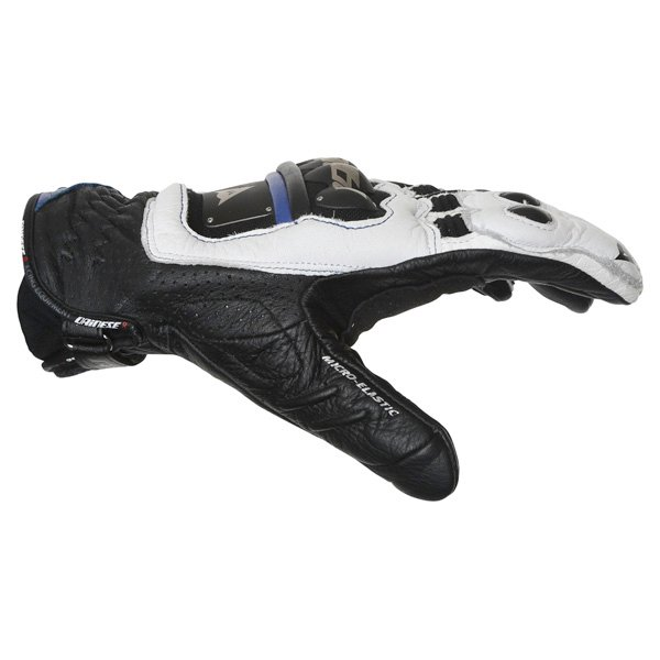 Dainese 4-Stroke White Blue Black Motorcycle Gloves Thumb side