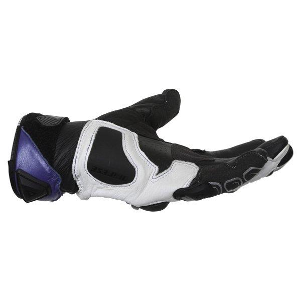 Dainese 4-Stroke White Blue Black Motorcycle Gloves Little finger side
