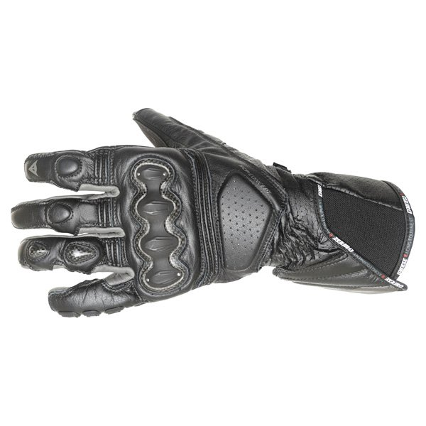 Dainese Pro Carbon Black Motorcycle Gloves Back
