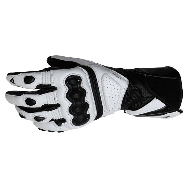 Dainese Pro Carbon White Black Motorcycle Gloves Back