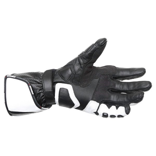 Dainese Pro Carbon White Black Motorcycle Gloves Palm