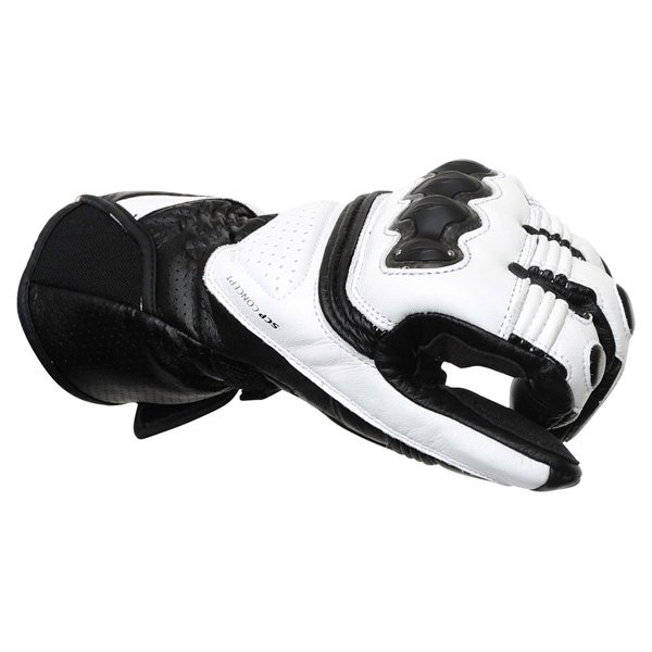Dainese Pro Carbon White Black Motorcycle Gloves Knuckle
