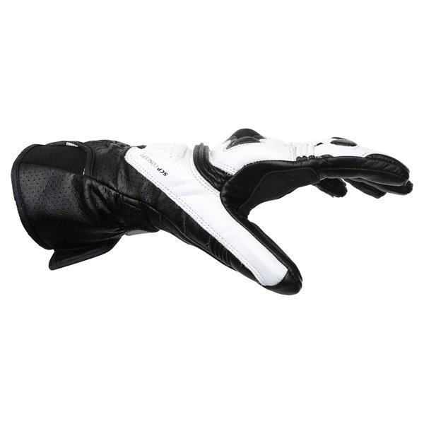 Dainese Pro Carbon White Black Motorcycle Gloves Thumb side