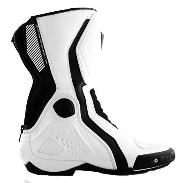 Dainese Giro-ST White Black Motorcycle Boots Outside leg