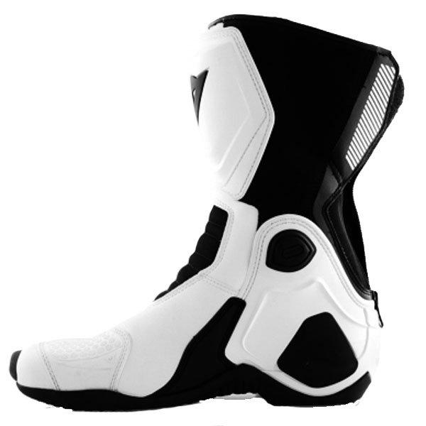 Dainese Giro-ST White Black Motorcycle Boots Inside leg
