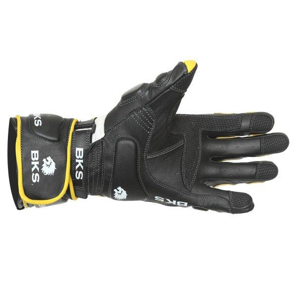 BKS Replica 09 Yellow White Black Motorcycle Gloves Palm