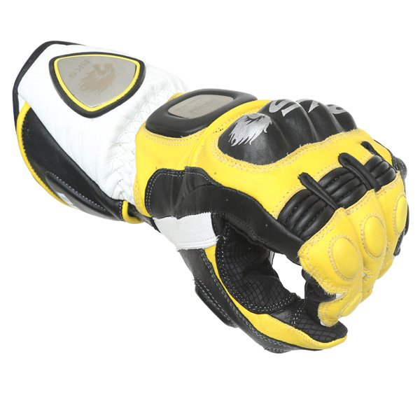 BKS Replica 09 Yellow White Black Motorcycle Gloves Knuckle