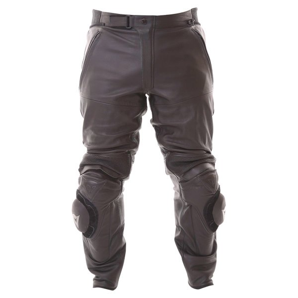 Dainese Alien Black Leather Motorcycle Jeans Front