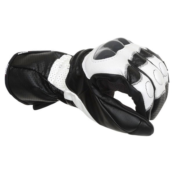 Dainese Redgate White Black Motorcycle Gloves Knuckle