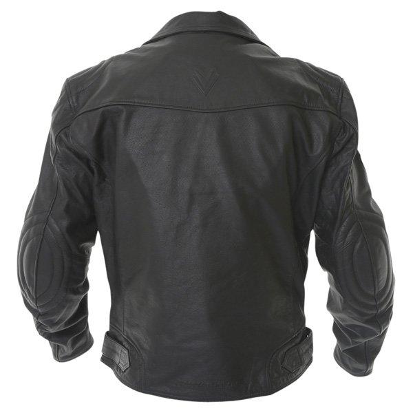 Frank Thomas FTL325 Traditional Black Leather Motorcycle Jacket Back