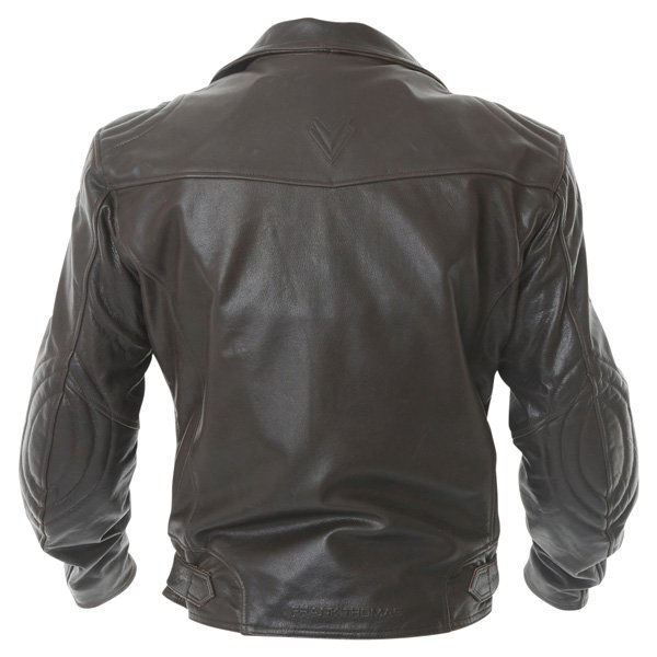 Frank Thomas FTL325 Traditional Brown Leather Motorcycle Jacket Back