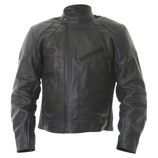 Frank Thomas FTL324 Defender Black Leather Motorcycle Jacket Front