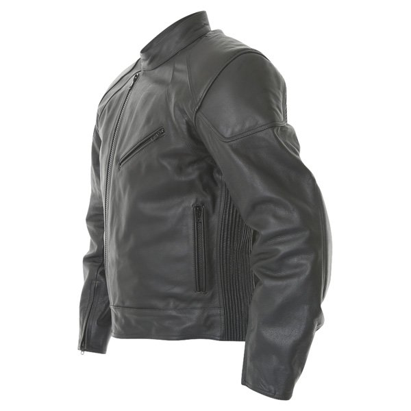 Frank Thomas FTL324 Defender Black Leather Motorcycle Jacket Side