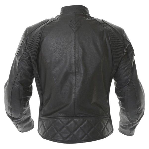 Frank Thomas FTL324 Defender Black Leather Motorcycle Jacket Back