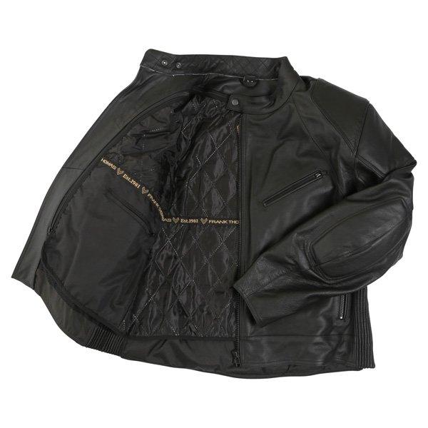 Frank Thomas FTL324 Defender Black Leather Motorcycle Jacket Inside
