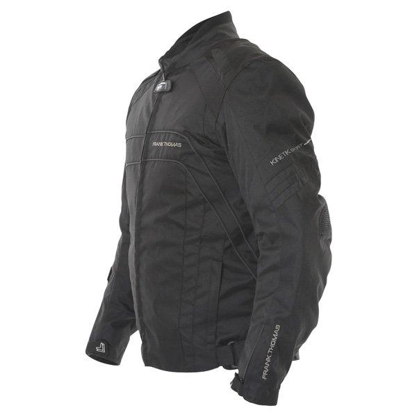Frank Thomas FTW356 Kinetik Mens Black Textile Motorcycle Jacket Side