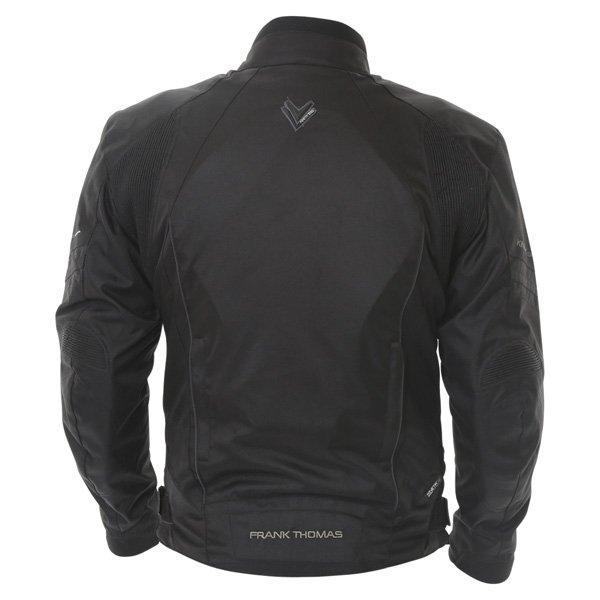 Frank Thomas FTW356 Kinetik Mens Black Textile Motorcycle Jacket Back