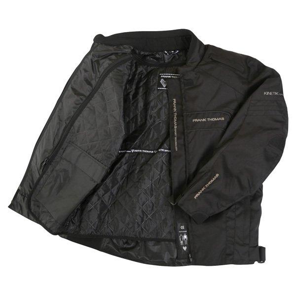 Frank Thomas FTW356 Kinetik Mens Black Textile Motorcycle Jacket Inside